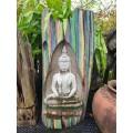 Teak wood Buddha carving